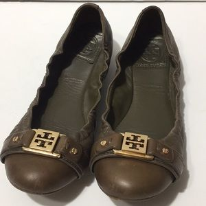 Tory Burch ballet flats brown size 6.5